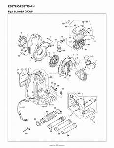Red Max Ebz7150 09 S  N 90700101  U0026 Up Parts Diagram For