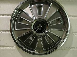 Ford Mustang Hubcap Clock Gift for Him Unique Wall Clock Vintage Hubcap Boyfriend Gift Christmas ...