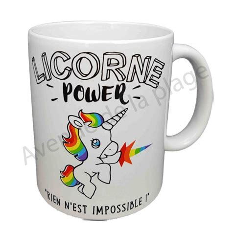 mug humoristique quot licorne power quot objet licorne pas cher