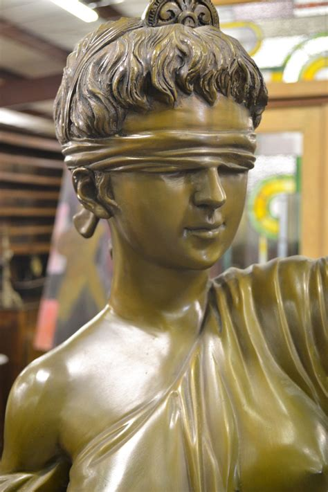 Lady Justice Bronze Statue - Wood Finisher's Source