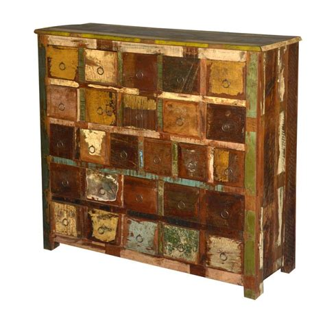 Wood Storage Cabinets With Drawers by Rustic Reclaimed Wood Apothecary Storage Cabinet With 26