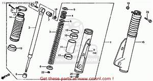 Honda Atc200es Big Red 1984  E  Usa Front Shock Absorber