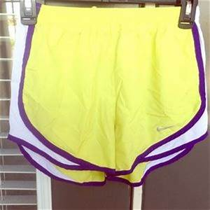 off Nike Pants NEON YELLOW NIKE RUNNING SHORTS💛 from