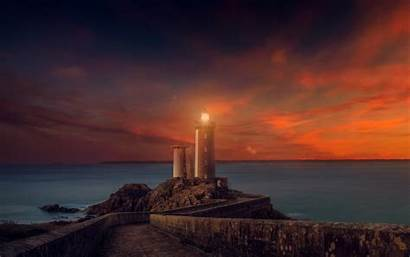4k Lighthouse Sunset Wallpapers Wide Retina Resolutions