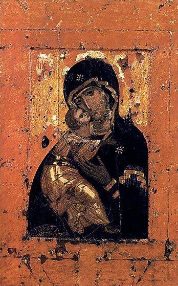 Золотой крестик. Распятие Христа. Владимирская икона Божией..