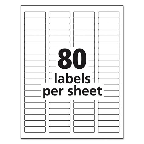 Label Template 80 Per Sheet return address labels template for 80 per sheet