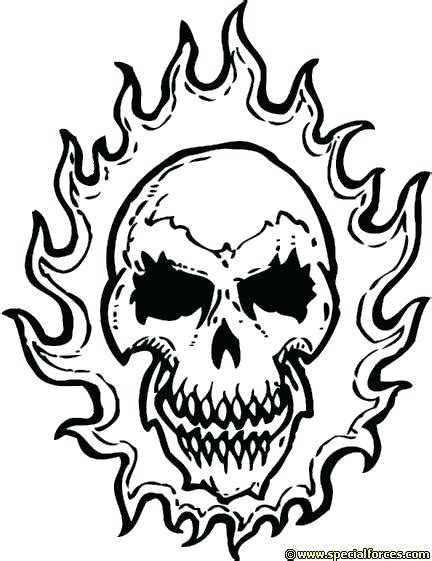 flaming skull coloring pages  getcoloringscom  printable colorings pages  print  color