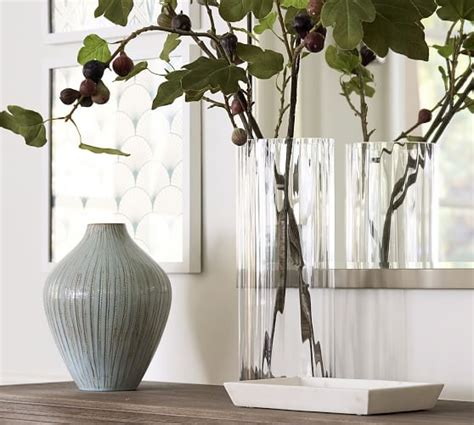 fluted glass vases pottery barn