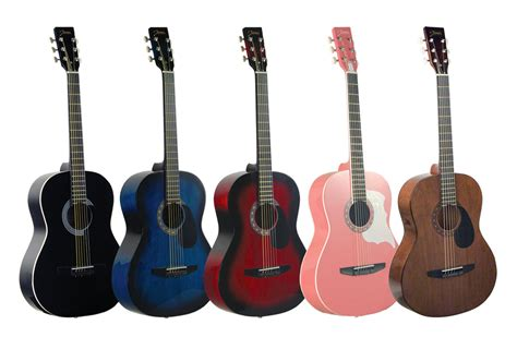 guitar colors johnson jg 100 student acoustic guitar