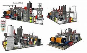 Lego Moc Chemical Plant Custom Model Pdf Instructions