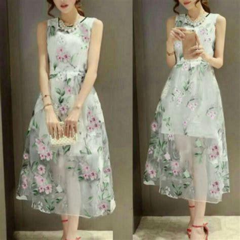 baju dress tile cantik  murah desain modern model