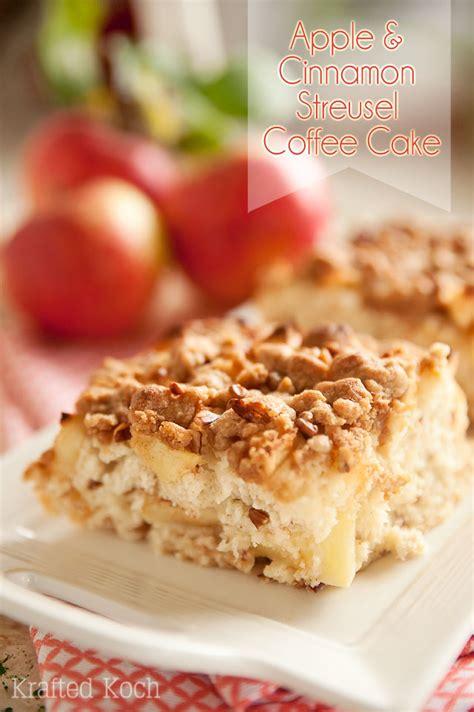 apple cinnamon streusel coffee cake page