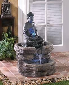 Fontaine Exterieur Zen : statue de jardin zen le bouddha ternel et l 39 art de d corer ~ Nature-et-papiers.com Idées de Décoration
