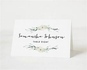 printable place card template wedding place card name With templates for place cards for weddings