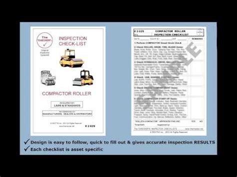 compactor roller inspection checklist    checker