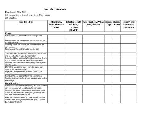 safety analysis template 13 best images of hazard analysis template worksheet hazard analysis template free