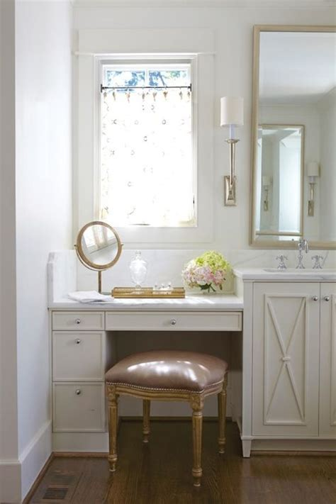 built  makeup vanity transitional bathroom jan