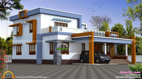 Box type house exterior elevation Kerala home design and