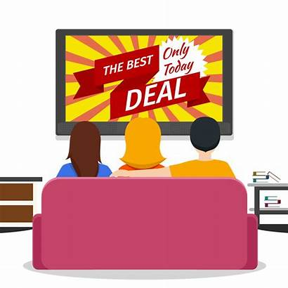 Clipart Advertising Clip Advertisement Television Cartoon Cliparts