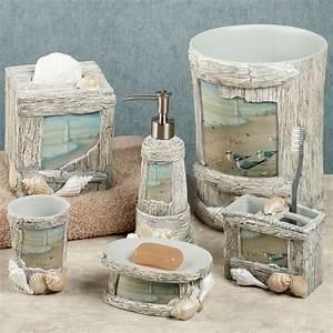 At the beach bath accessories for Beach bathroom accessories