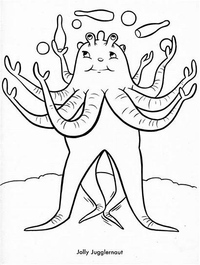 Coloring Pages Funny Weird Monsters Odd Halloween