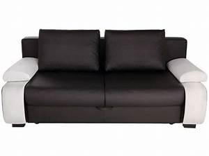 photos canape noir et blanc convertible conforama With canape cuir noir et blanc conforama