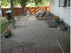 Happy At Home A New Gravel Patio