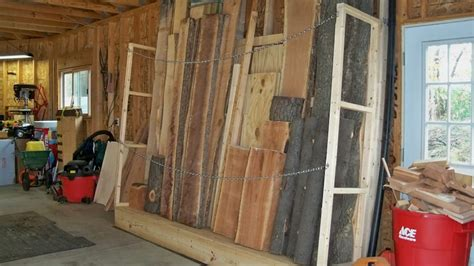 vertical lumber storage rack  shop wood talk