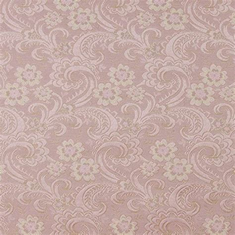 Brocade Upholstery Fabric by D120 Gold And Pink Paisley Floral Brocade Upholstery