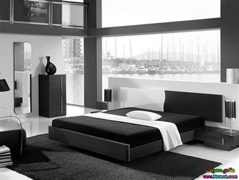 Minimalist 1 Bedroom Apartment Designed For A Young Man : صور غرف نوم مودرن اسود في رومادي جميلة ديكورات جميله غرف