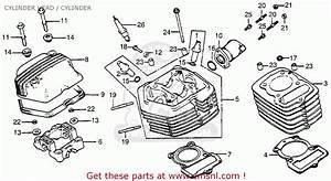 Honda Xr100 1983  D  Usa Cylinder Head    Cylinder   Cylinder Spares Online