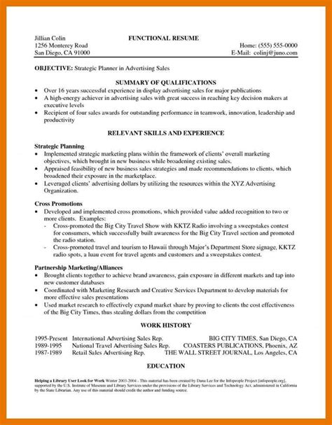 Chronological Resume Summary Of Qualification by 5 6 Best Resume Summary Formsresume