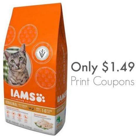 62368 Iams Coupons by Iams Coupons 2017 For Food Cat Food More