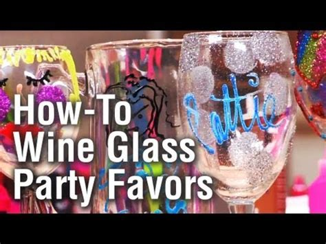 threadbanger party    personalized wine glass party favors youtube
