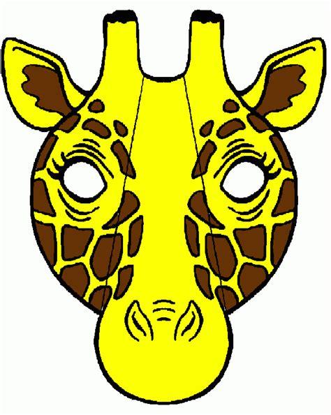 ausmalbilder giraffenmaske giraffenmaske zum ausdrucken