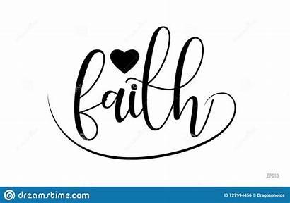 Faith Heart Typography Word