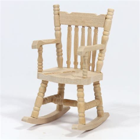 wood rocking chair unfinished wood furniture
