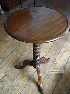 Antike Tische Rund : beistelltisch rund klassisch s ulenfuss mahagoni antik ~ Frokenaadalensverden.com Haus und Dekorationen