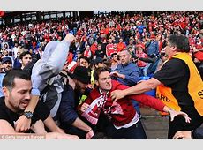 Fighting breaks out between Liverpool and Sevilla fans