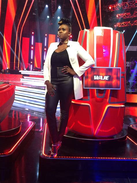 """The voice nigeria, brought to you by firstbank and championed by baba ijebu, is all about the finest singing talents in the country battling it out under the guidance of top music stars, darey, waje, yemi. Waje opts for an Androgynous Look for """"The Voice Nigeria"""" finale   BellaNaija"""