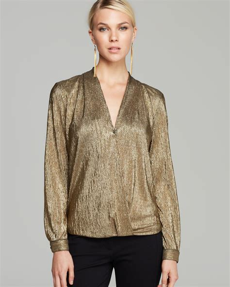 gold blouse sam lavi blouse wynter metallic in metallic lyst
