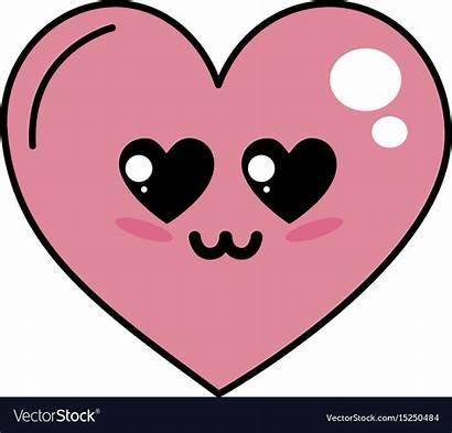 Heart Kawaii Vector Royalty