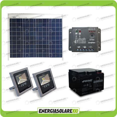 Faro Illuminazione Esterna Kit Fotovoltaico Illuminazione Esterna Fari Led 10w