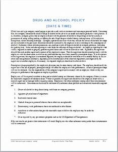 drug and alcohol policy template ms office guru With drug free workplace policy template