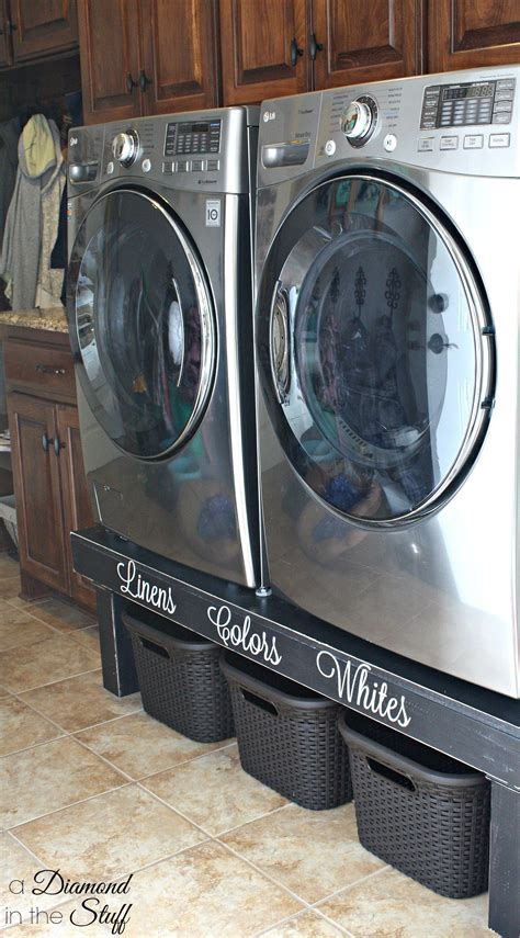 washer dryer pedestal diy washer dryer pedestal