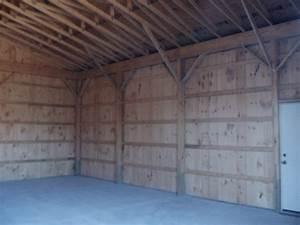 Gable free pole barn plans designs for Pole barn garage interior ideas