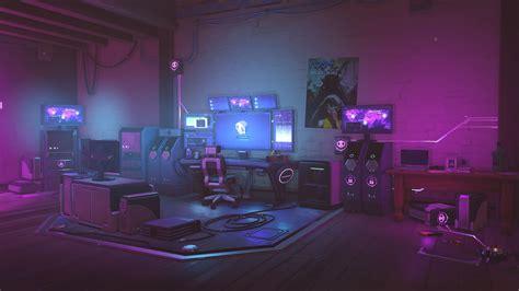 futuristic anime bedroom background