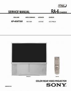 Sony Kp-46wt500 Service Manual