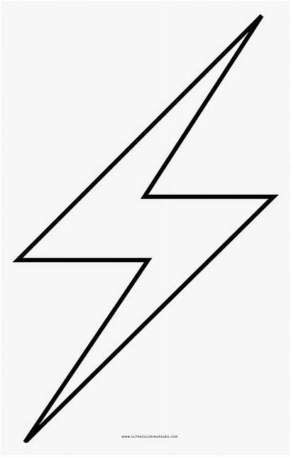 Lightning Bolt Coloring Pngitem Transparent Vhv