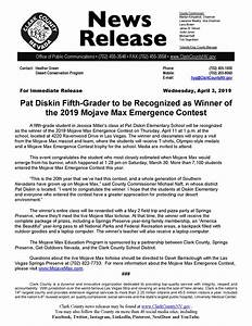 2019 Mojave Max Contest Winner To Be Recognized  U2013 Ccdcp